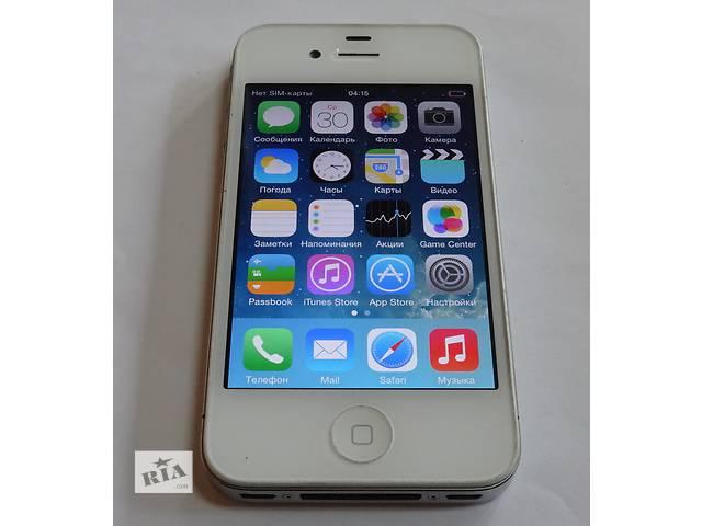 бу Apple iphone 4 8GB White Neverlock Оригинал в Киеве