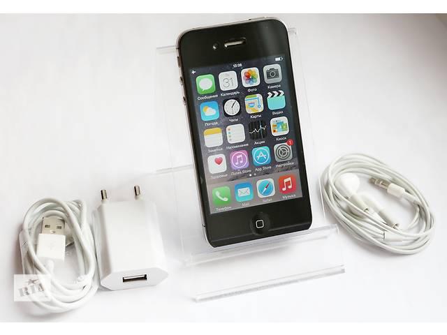 купить бу Apple iPhone 4S 32GB Black Newerlock / Чорный Неверлок / ios 8.0.2 / Гарантия 30 дней в Кременчуге