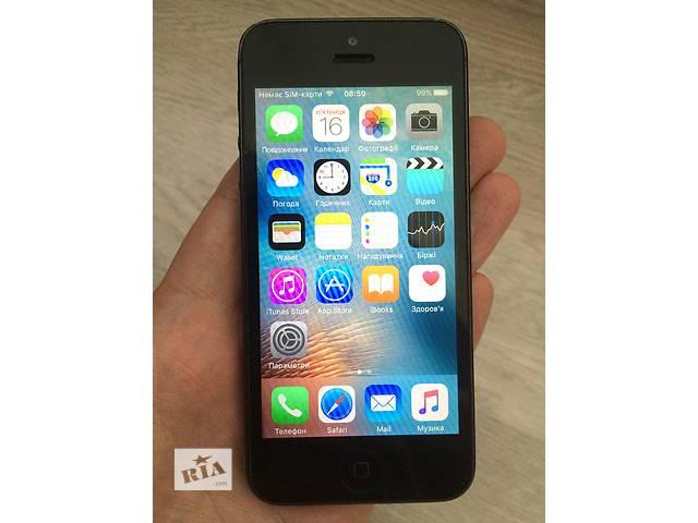 продам Apple IPhone 5 16Gb неверлок оригинал. Чек, гарантия 30 дней. бу в Киеве