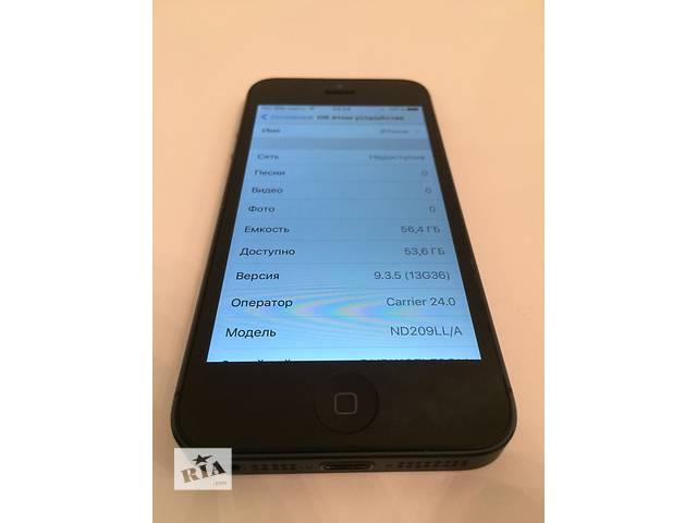 продам Apple IPhone 5 64Gb оригинал неверлок. Чек, гарантия, полный комплект бу в Киеве