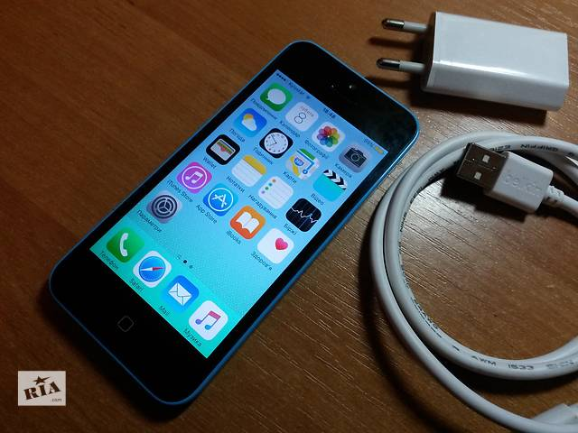 купить бу Apple Iphone 5c (16Gb), Neverlock, blue в Львове
