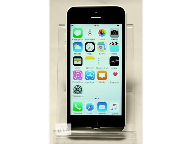 купить бу Apple iPhone 5C 16GB White Newerlock Белый Неверлок - Гарантия от ЧП в Кременчуге