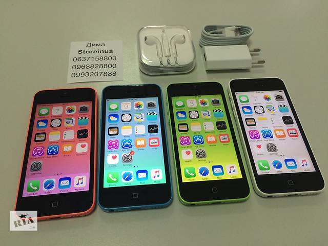 купить бу Apple iPhone 5C Neverlock Space Gray. От магазина с гарантией в Киеве