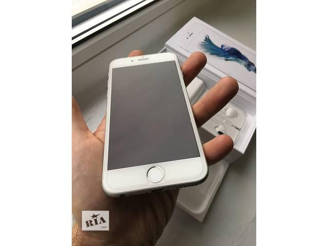купить бу Apple iphone 6s 64gb silver (white) neverlock!! как новый!! +стекло!! в Нежине