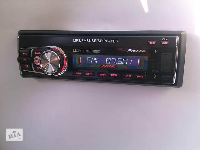 продам Автомагнитола Pioneer 1087 (съемная панель) SD, USB, AUX бу в Мукачево