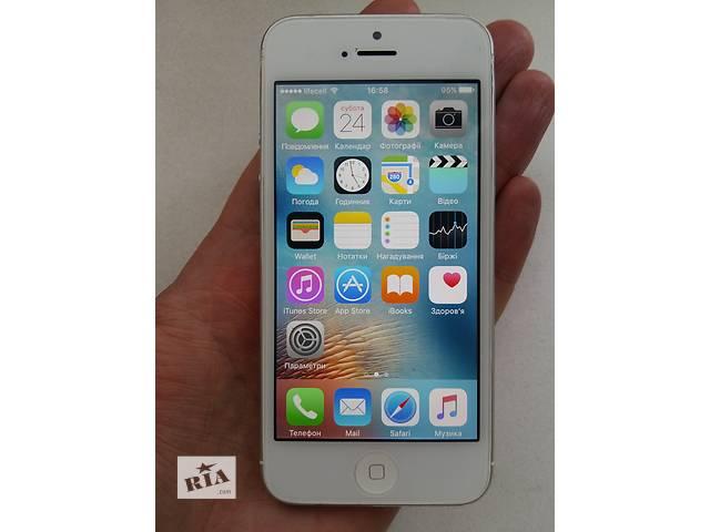продам Айфон 5 32Гб белый неверлок.Чек, гарантия  бу в Киеве