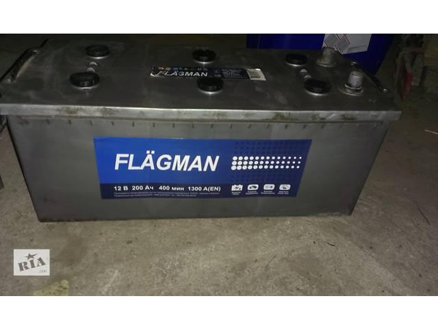 купить бу Б/у акумулятори Flagman 12В (200А/г) 1300А в Луцке