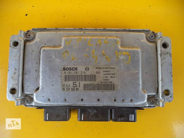 купить бу Б/у блок управления двигателем для легкового авто Citroen Xsara Picasso (1,6)(00-06) в Луцке