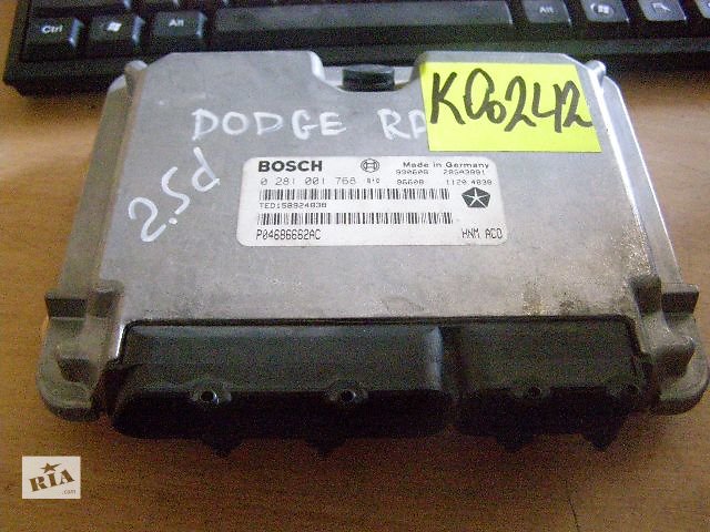 купить бу Б/у блок управления двигателем для легкового авто Dodge Ram Van 2.5td  0281001768 в Новой Каховке