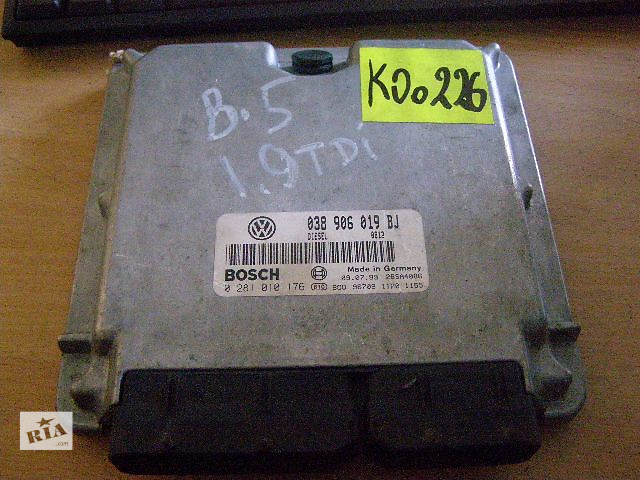 купить бу Б/у блок управления двигателем для легкового авто Volkswagen Passat 19TDi 038906019BJ 0281010176 в Новой Каховке