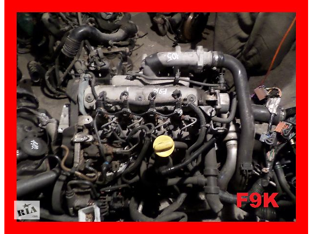 купить бу Б/у Детали двигателя Двигатель Opel Vivaro 1.9 DCI F9K в Фастове