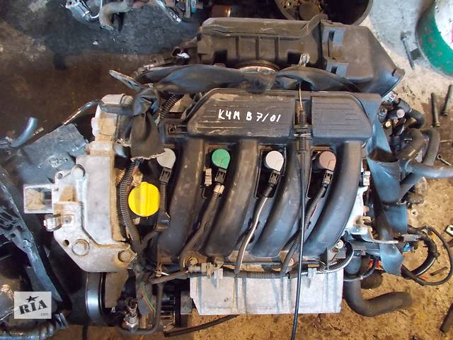 купить бу Б/у Двигатель Renault Laguna 1,6 бензин 16V № K4M B 7/01 в Стрые