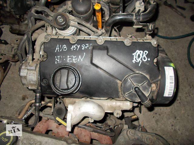 купить бу Б/у Детали двигателя Двигатель Skoda SuperB 1.9 TDI № AVB в Стрые