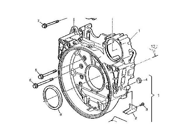 купить бу Б/у Детали двигателя Кожух маховика для АКПП, DXI 11 для Renault в Черновцах