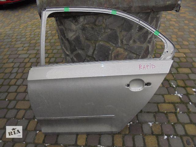 купить бу Б/у дверь задняя для легкового авто Skoda Rapid 2013 в Львове