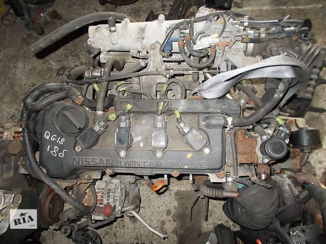 купить бу Б/у Двигатель Nissan Almera Tino 1.8 бензин 16V № QG18DE 2000-2001 2003-2005 в Стрые