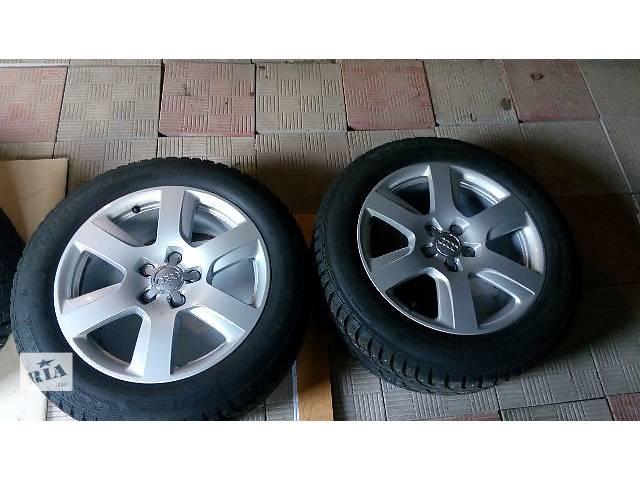 продам Б/у диск с шиной для легкового авто Audi 225/55 R17 4шт бу в Киеве