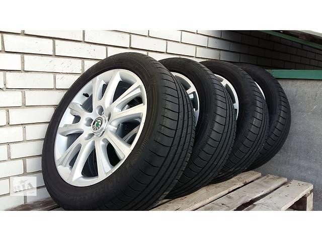 Б/у диск с шиной для легкового авто Skoda Octavia- объявление о продаже  в Запорожье