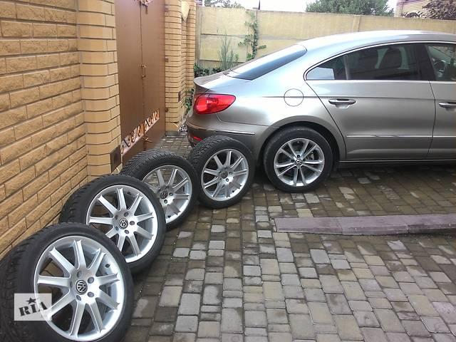 купить бу Б/у диск с шиной для седана Volkswagen Passat CC в Мариуполе (Донецкой обл.)