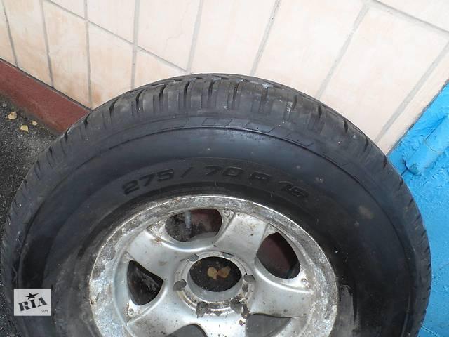 Б/у диск с шиной R16 275/70 R16 резина состояние новой(запаска) 1шт.- объявление о продаже  в Прилуках