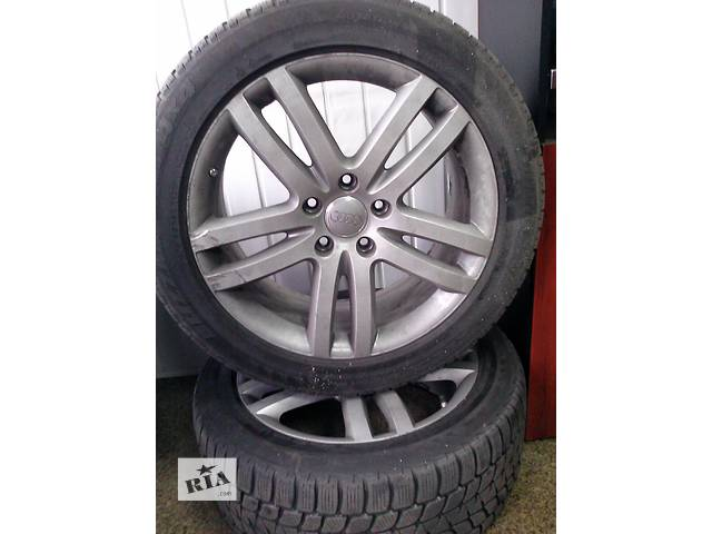 бу Б/у диски Audi Q7,R20 с шинами Bridgestone 275/45 R20 в Киеве