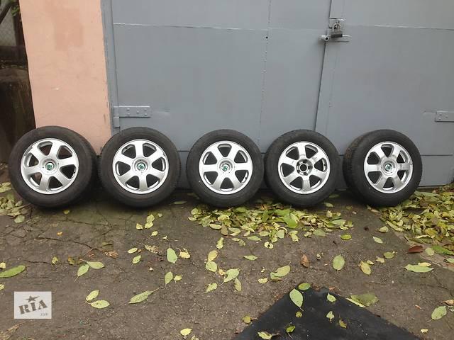 продам Б/у диски R15 с шиной для легкового авто Skoda Octavia Tour бу в Днепре (Днепропетровске)