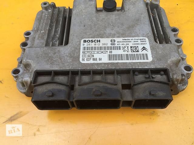 продам Б/у ЭБУ BOSCH блок управления двигателем 1.6 для легкового авто Citroen Jumpy Скудо Експерт Джампі Джампи (3) с 2007г. бу в Ровно