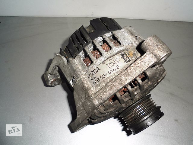 Б/у генератор/щетки для легкового авто Audi A6 1.8T 1997-2005 120A с обгоной муфтой.- объявление о продаже  в