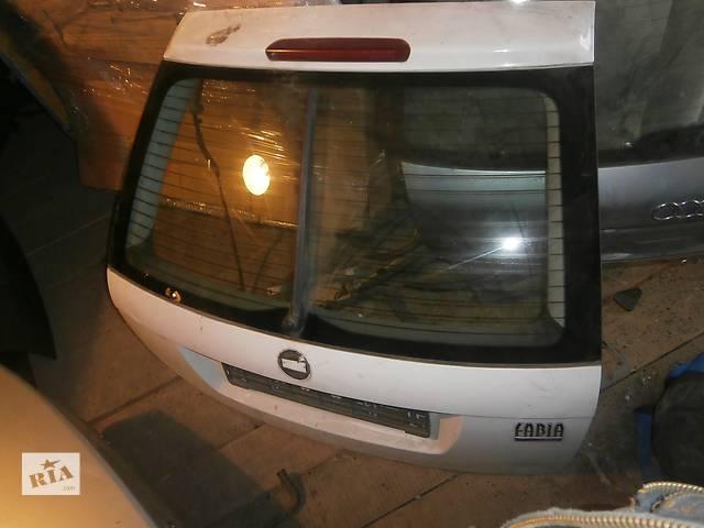 Б/у кришка багажніка для легкового авто хетчбека Skoda Fabia- объявление о продаже  в Львове