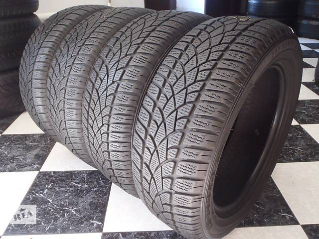бу Б/у шины 205/55/R16 Dunlop Sp Winter Sport 3D 205/55/16 в Кременчуге
