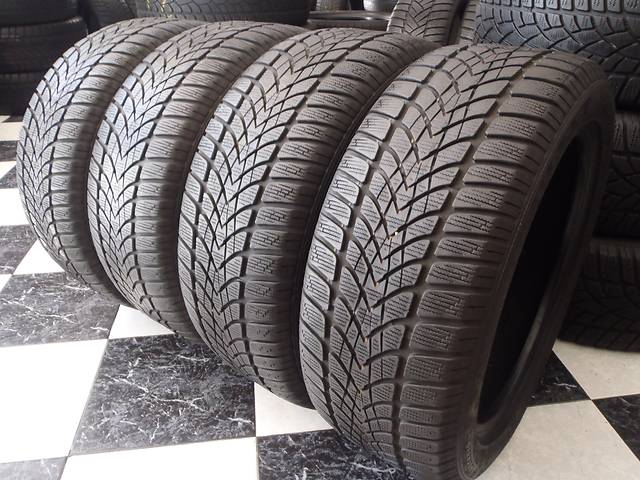 бу Б/у шины 4шт 225/50/R17 Dunlop Sp Winter Sport 4D 225/50/17 в Кременчуге