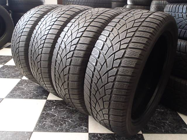 бу Б/у шины 4шт 225/50/R18 Dunlop Sp Winter Sport 3D  225/50/18 в Кременчуге