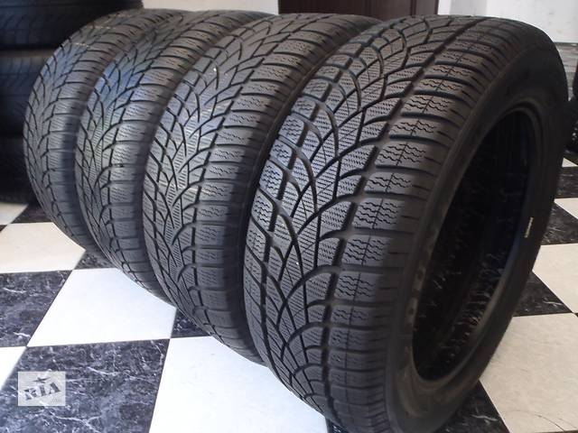 Б/у шины 4шт 225/55/R17 Dunlop Sp Winter Sport 3D Ran on Flat  225/55/17- объявление о продаже  в Кременчуге