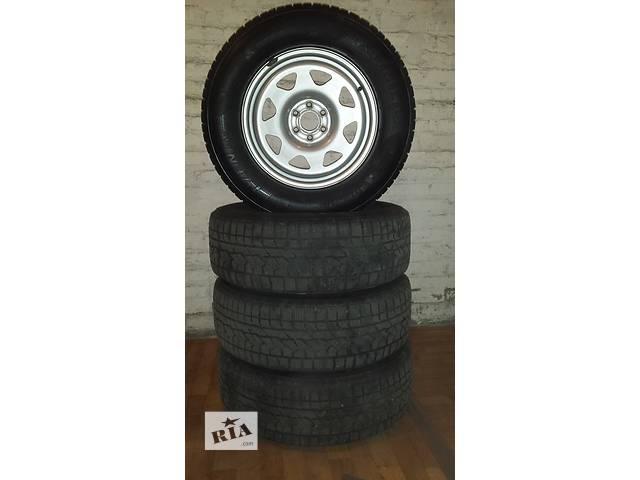 купить бу Б/у шины зимние R17 KUMHO 255/65 + диски DOTZ в Киеве