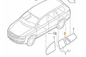б/у Стекла двери Volkswagen Golf V