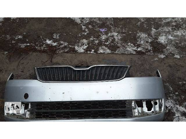 купить бу б/у Детали кузова Бампер передний Легковой Skoda Rapid Седан 2014 в Полтаве