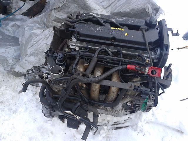 купить бу Б/у Двигатель *A6D* KIA Sephia II 1.6i DOHC 16 клап. 2001~2004 Гарантия Установка Доставка по Киеву и Украине в Киеве