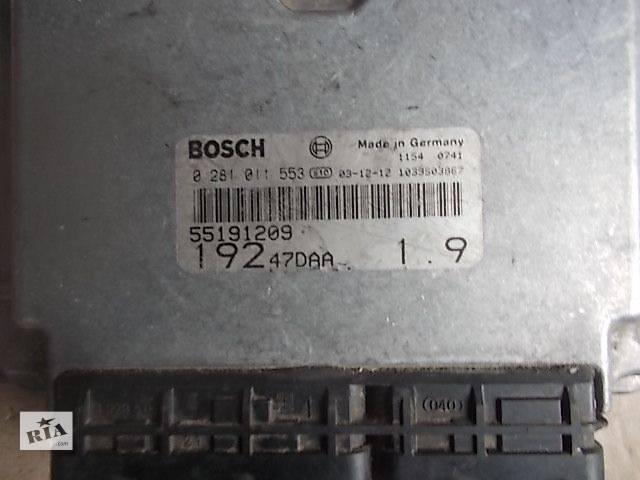 продам Б/у Электрооборудование двигателя Блок управления двигателем Легковой Fiat Stilo 2004 0281011553 бу в Ровно