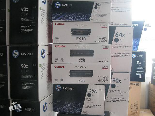 купить бу б/у картриджи Samsung HP Xerox Canon в Киеве