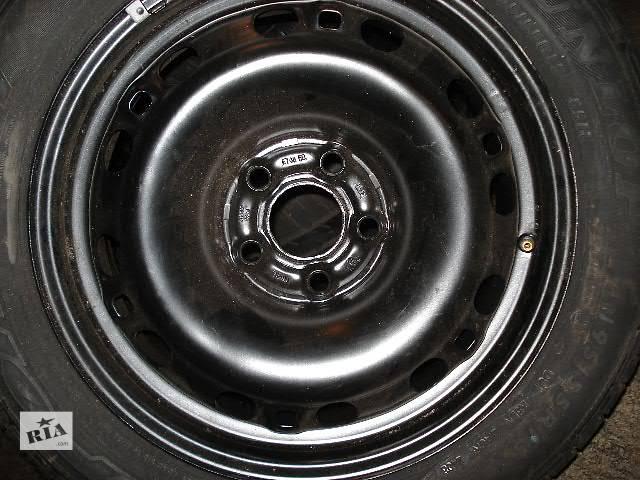 купить бу б/у Колеса и шины Запаска Диск металический 6 15 43 5x100 Легковой Skoda VW Seat в Миргороде