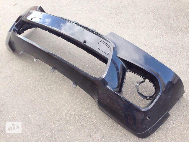 купить бу Бампер передний Е70 мпакет рестайл с заглушками под крюк цвет черный в Луцке