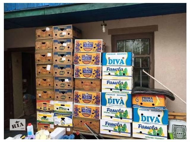 купить бу Банановая коробка со складов торговых сетей.  в Украине
