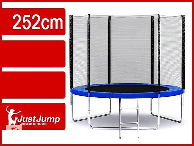 Батут фирми Just Jump 252 см с сеткой + лестница- объявление о продаже  в Тернополе