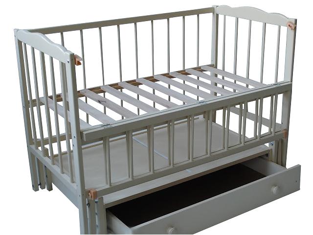 бу Белая кроватка-маятник \ Бесплатная Доставка в Тернополе