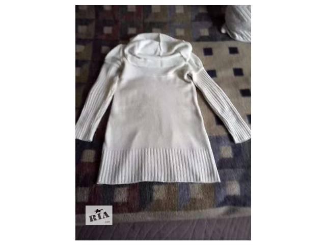 Белая Туника свитер платье- объявление о продаже  в Днепре (Днепропетровске)