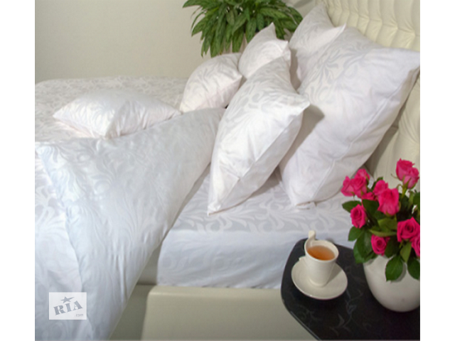 Белое постельное белье из сатина, страйп-сатина, сатин-жаккарда. Цветное жаккардовое белье.- объявление о продаже  в Киеве