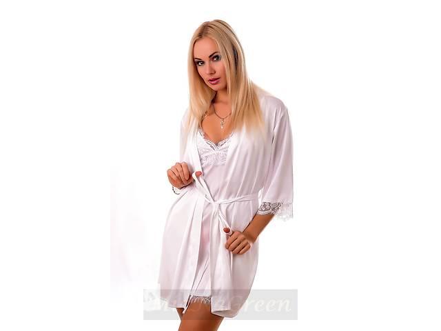 Белый халат из шелка с французским кружевом- объявление о продаже  в Харькове