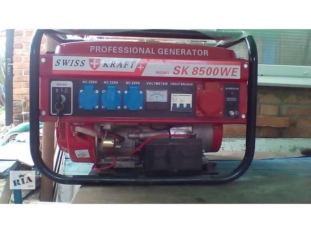 купить бу Бензо-газо-генератор SWISS KRAFT SK 8500 WE 3-х фазный изменить   удалить  в Дружковке