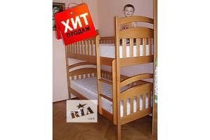Без переплаты! Детская двухъярусная кровать Карина(Арина) из натурального дерева! От производителя! + матрасы и ящики!