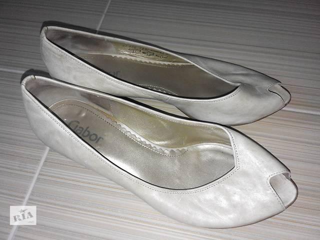 Брендовые туфли на низком каблучку gabor- объявление о продаже  в Полтаве